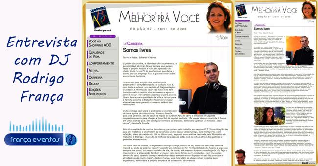 FRANÇA EVENTOS na revista MELHOR PARA VOCÊ